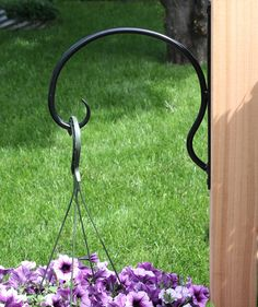 No Problem for this hook. Hanging Flowers, Hanging Plants, Plant Hooks, Iron Plant, Wind Spinners, Indoor Outdoor, Outdoor Decor, Home Decor Styles