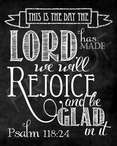 Scripture Art Psalm 11824 Chalkboard by ToSuchAsTheseDesigns Chalkboard Scripture, Chalkboard Lettering, Chalkboard Designs, Bible Verses Quotes, Sign Quotes, Faith Quotes, Chalkboard Decor, Lettering Ideas, Prayer Scriptures