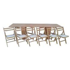 Set masa plianta de 12 persoane cu 6 scaune pliante, fag - eMAG.ro Table, Furniture, Home Decor, Decoration Home, Room Decor, Tables, Home Furnishings, Home Interior Design, Desk