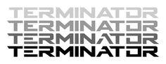 Resultado de imagen de typography terminator