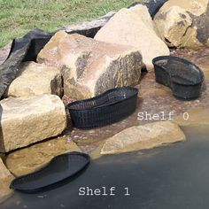 Use mesh baskets to stand plants on different depth shelves around your pond|Waterside Nursery