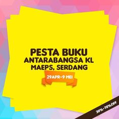4-9 May 2016: Karyaseni KL International Book Fair