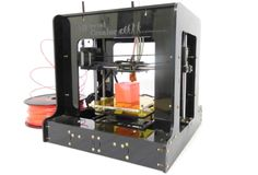 cREATOR is a mini portable 3D Printer with nice look (transparency) acrylic finish , PLA compatible, tiny model maker for hobbyists, easy to carry anywhere, and yes it is offered at affordable price.