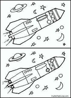 Diferencias Space Activities For Kids, Science For Kids, Book Activities, Preschool Activities, Space Projects, Space Crafts, Space Coloring Pages, Hidden Pictures, Space Theme