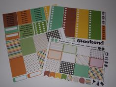 Coffee Break Weekly Sticker Kit / Great for your vertical Erin Condren Life Planner by TheOrganizedPlanner on Etsy
