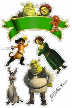 Topper Bolo Do Shrek, Shrek E Fiona, Garfield Cake, Lol Doll Cake, Barbie Drawing, Kawaii Disney, Book Wallpaper, Disney Princess Party, Boy Character