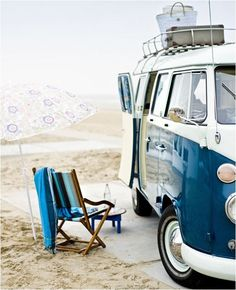 VW Camper by the Sea