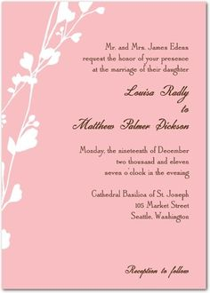 Pink is Becoming the New Cream for Wedding Invitations