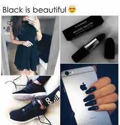 Black is always beautiful Black Love, Back To Black, Black Is Beautiful, Beautiful Soul, Color Black, My Favorite Color, My Favorite Things, Best Friends Funny, Color Collage