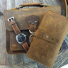 Tobacco on tobacco. | Saddleback Leather Co. | Tablet Bag and Big Wallet | 100 Year Warranty