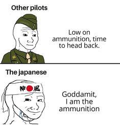A sub for Historymemes History Memes, Pilot, Japanese, Comics, Japanese Language, Pilots, Cartoons, Comic, Comics And Cartoons