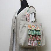 フィードサックフリルのリネンバッグの作り方 | 簡単かわいいハンドメイド - 無料型紙 - | BEE FACTORY