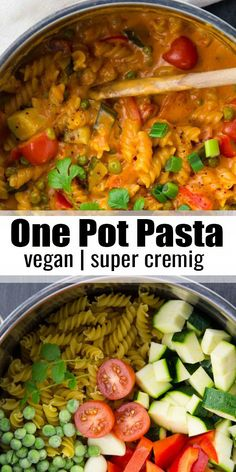Looking for a simple one pot pasta recipe? This vegan one pot pasta with coconut milk . - Schnelle Rezepte - # Looking for a simple one pot pasta recipe? This vegan one pot pasta with coconut milk . Vegan Dinner Recipes, Vegan Dinners, Pasta Recipes, Chicken Recipes, Cooking Recipes, Vegan Recipes One Pot, Cooking Pasta, Vegan Recipes Instant Pot, Instapot Vegan Recipes