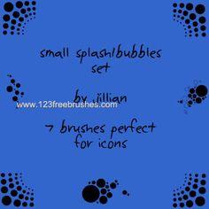 Splash Bubbles - Download  Photoshop brush http://www.123freebrushes.com/splash-bubbles/ , Published in #GrungeSplatter. More Free Grunge & Splatter Brushes, http://www.123freebrushes.com/free-brushes/grunge-splatter/ | #123freebrushes