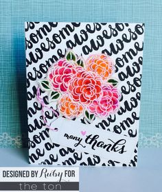 black and white with a pop of color; embossing on vellum