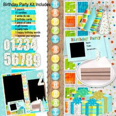 Birthday Digital Scrapbooking Freebie   Digital Scrapbooking Freebies -Mommyscraps