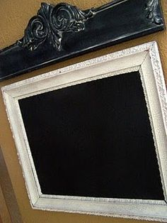 What a great thing to do with those old frames I just can't part with! Chalkboard Paint!! You've gotta love it, right...