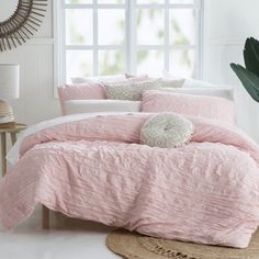 Pastel perfection is personified with the Greta Blush quilt cover set! The stunning, ruched style quilt cover is simply perfect for creating a feminine and on-trend retreat in your home.