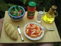 macarrones y ensalada