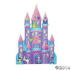 12 DIY Giant Enchanted Castle-Shaped Sticker Scenes