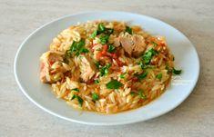 """""""Γιουβέτσι"""" με τόνο (ή άλλο ψαρικό κονσέρβας) - cretangastronomy.gr Pot Pasta, Fish Recipes, Yummy Food, Baking, Ethnic Recipes, Cook, Delicious Food, Bakken, Backen"""