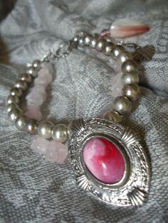 Pink Rose Quartz Vintage Assemblage by AtticAntiquesVintage, $35.00