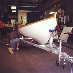 Wind and Oar Boat School built their own St. Ayles Skiff at ADX and raced in the World Championship