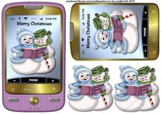 Smartphone Merry Christmas  3 by Marijke Kok Great christmas smartphone with cute winter snow couple   in pretty cplorThis card is also very nice for a Girl