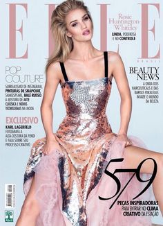 Rosie Huntington-Whiteley by David Bellemere for Elle Brazil September 2016 Covers