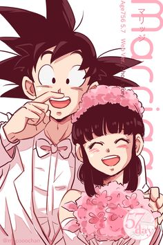 Goku and Chi-Chi (Dragon Ball) (c) Toei Animation, Funimation & Sony Pictures Television Dragon Ball Gt, Goku E Chichi, Milk Y Goku, Sailor Moon, Dragons, Manga Dragon, Cartoon Dragon, Chi Chi, Anime Merchandise