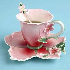 Flower teacup and saucer