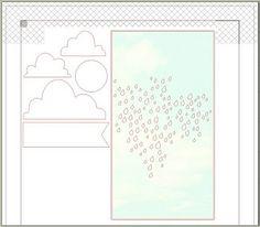 rainy sky & clouds - free Silhouette cut file - bjl