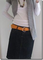Cute, cute, cute! Braided t-shirt belt
