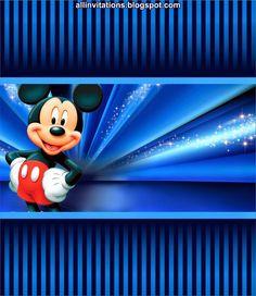 Etiqueta Chocolate Mickey Mouse