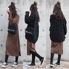 Japanese Outfits, Japanese Fashion, Korean Fashion, Autumn Fashion Women Fall Outfits, Casual Fall Outfits, Japan Fashion Casual, Alternative Mode, Ny Style, Modesty Fashion