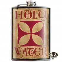 Holy Water Stainless Steel Hip Flask