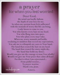 Worry prayer