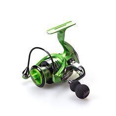 Free Shipping 13+1 BB Spinning Fishing Reel Metal Handle XF 1000 5000 Reels YUMOSHI Green