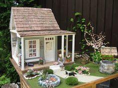 porch and landscape