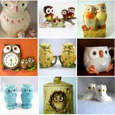 That's it!! I give in! The owls have it! They must mean something. I accept it and now I give in to them. Vintage Owls my new collectible.