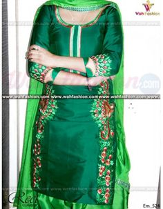 Give yourself a stylish & designer look with this Stunning Green Contrasted Embroidered Punjabi Suit. Embellished with Embroidery work and lace work. Available with matching bottom & dupatta. It will make you noticable in special gathering. You can design this suit in any color combination or on any fabric. Just whatsapp us for more details. For more details whatsapp us: +919915178418