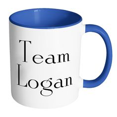 TEAM LOGAN, Gilmore Girls Color Accent Coffee Mug - Choice of Accent color