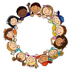 ◗ [Nulled]◛ Children In Circle White Background Baby Background Birthday Child Childhood Circle Kindergarten, School Clipart, Borders And Frames, Classroom Decor, Coloring Pages, Crafts For Kids, Preschool, Childhood, Children