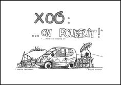 "For Twingo's 20th birthday, discover Yves Dubreil (director of the project "" X06 "")'s beautiful pencil stroke, who honored us with illustrating this event in drawings. (c) Yves Dubreil - Droits réservés Renault"