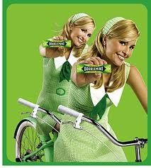 Doublemint Gum commercials These soooo made me want to be a twin. Luckily I had a cousin close in age and so we dressed alike and pretended.