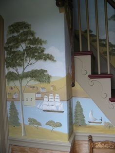 Colonial style mural by Tony Castro & Company, via Flickr
