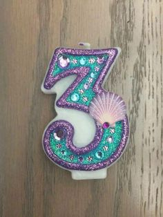 Jazzed up number candle