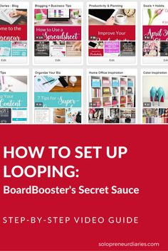 Looping is the secret sauce of BoardBooster. It's what sets BoardBooster apart from other Pinterest schedulers and really lets you level up your Pinterest game. In this video, I walk you step-by-step through the process of how to set up looping on BoardBooster. Click through to watch.