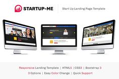 StartUp-Me HTML Landing Page by Dezinethemes on @creativemarket