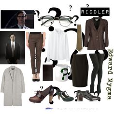 Designer Clothes, Shoes & Bags for Women Gotham Characters, Cosplay Costumes, Halloween Costumes, Dress Outfits, Cute Outfits, Dresses, Batman, Fandom Fashion, Riddler